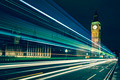 Big Ben and lights of the cars passing by - PhotoDune Item for Sale