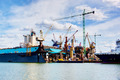 Shipyard. Ship under construction, repair. Industrial, transport. - PhotoDune Item for Sale