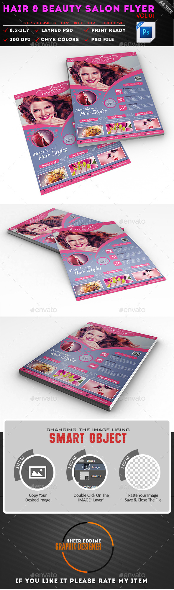 GraphicRiver Hair & Beauty Salon Flyer Vol01 11172513