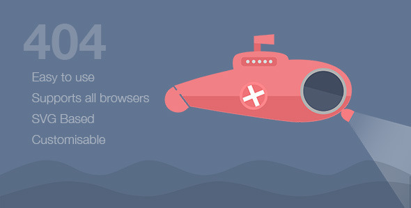 ThemeForest Submarine SVG Animated 404 Page 11166296