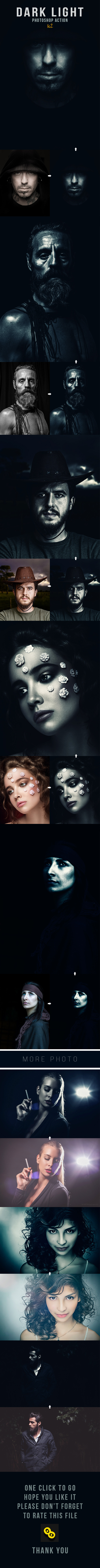 GraphicRiver Dark Light v-2 Photoshop Action 11213439