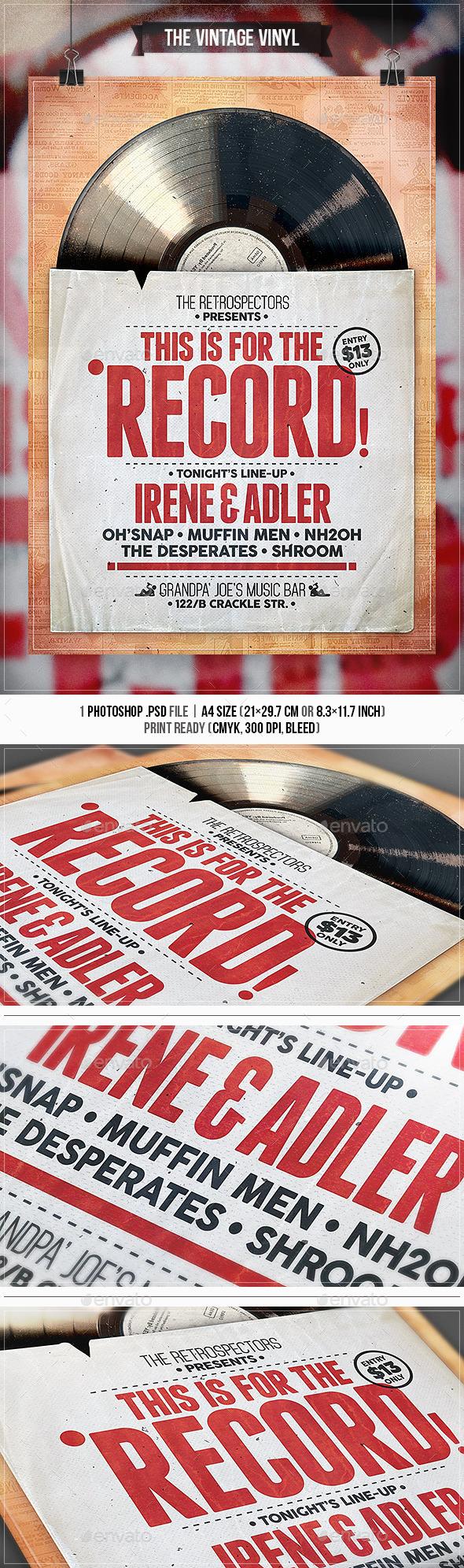 GraphicRiver Vintage Vinyl Flyer & Poster 11213503