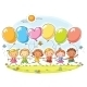 Kids with Balloons - GraphicRiver Item for Sale