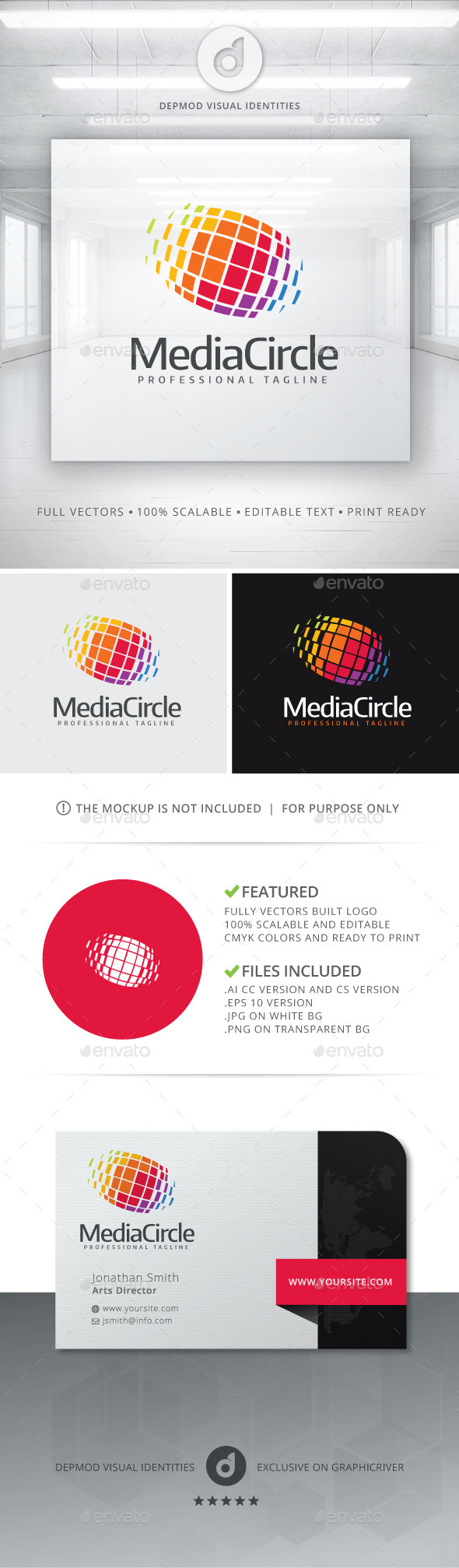 GraphicRiver Media Circle Logo 11213602