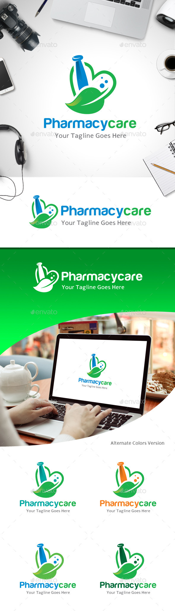 GraphicRiver Pharmacy Care Love Logo 11213630