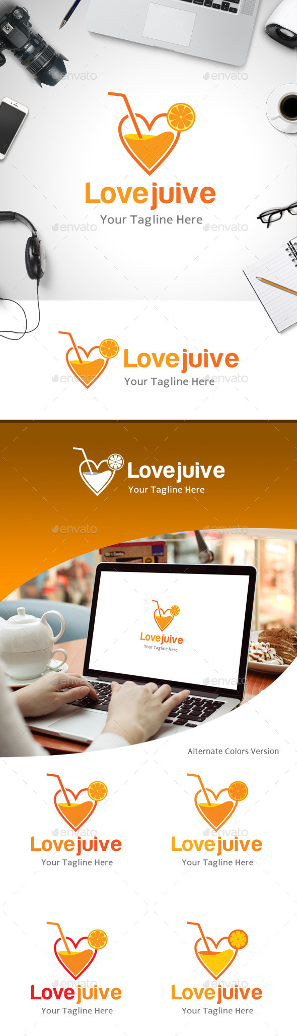 GraphicRiver Love Juice Logo 11184477