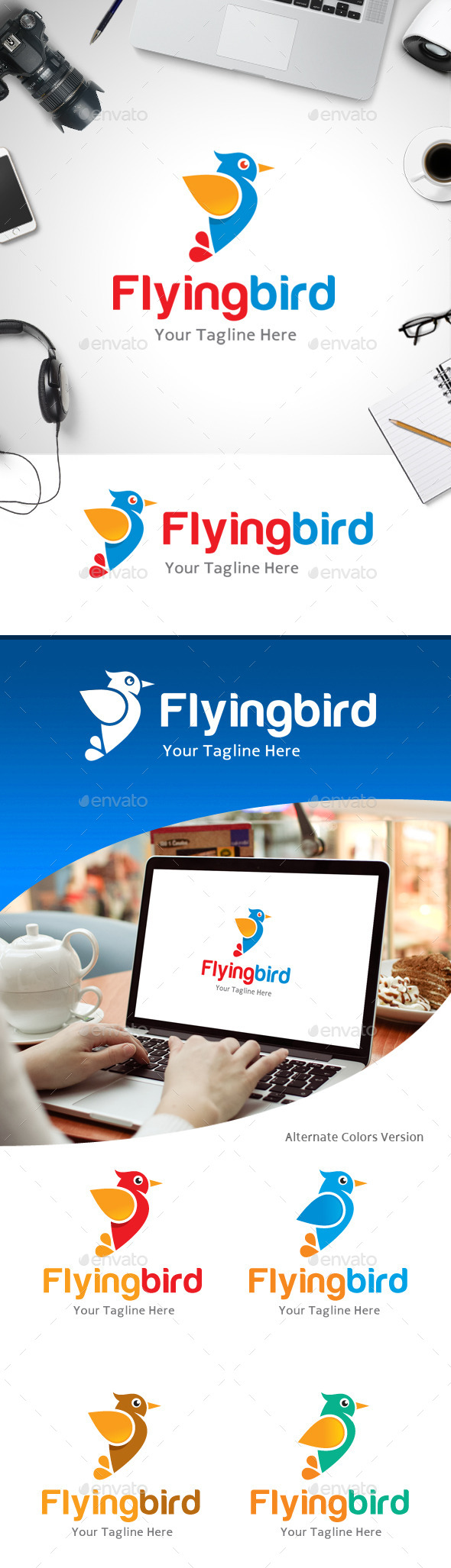 GraphicRiver Flying Bird Logo 11184525