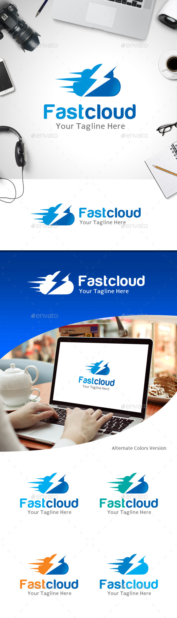 GraphicRiver Fast Cloud Logo 11214027