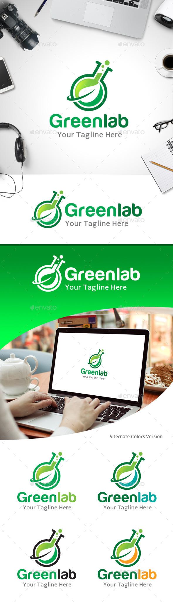 GraphicRiver Green Lab Logo 11214033