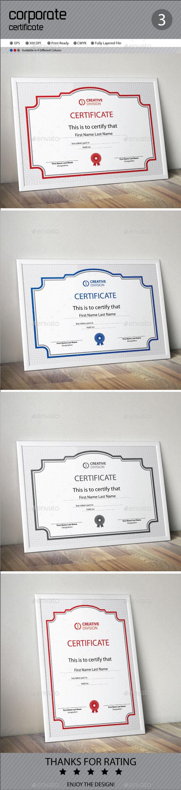 GraphicRiver Certificate 11214038