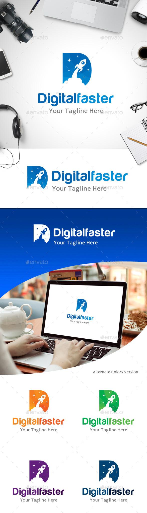 GraphicRiver Letter D Faster Logo 11214045