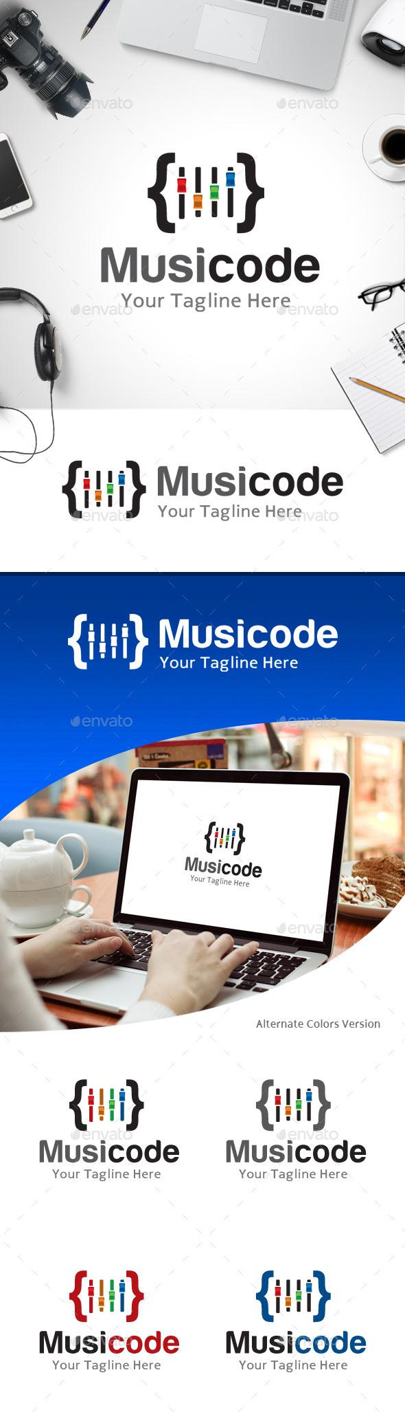 GraphicRiver Music Code Logo 11214167