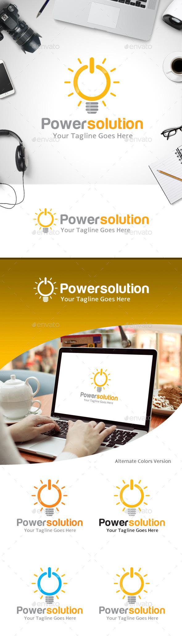 GraphicRiver Power Solution Logo 11214191