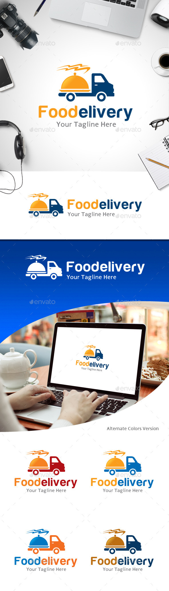 GraphicRiver Food Delivery Logo 11214201