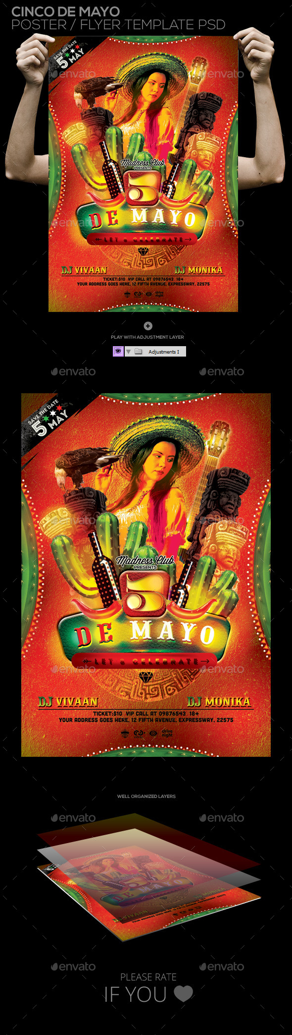 GraphicRiver Cinco De Mayo Flyer Template 11214567
