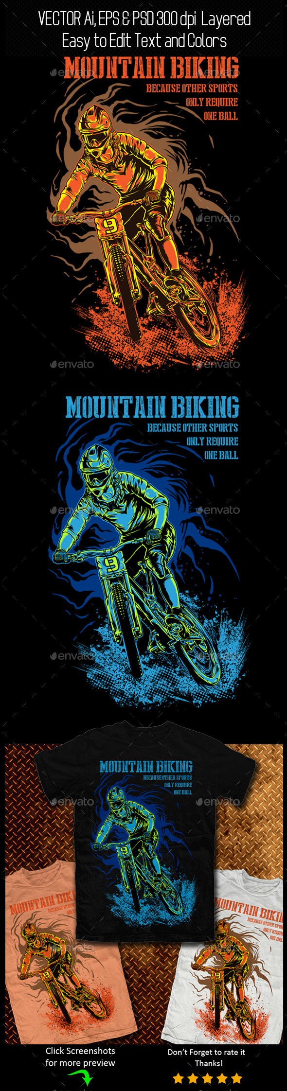 GraphicRiver Mountain Biking 11128520