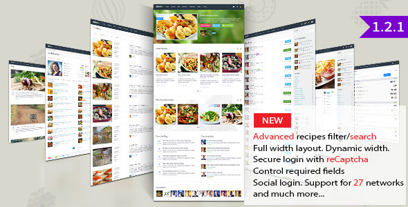 Gustos - Community Driven Recipes, WordPress Theme