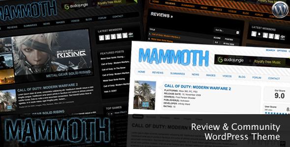 Mammoth wordpress theme download
