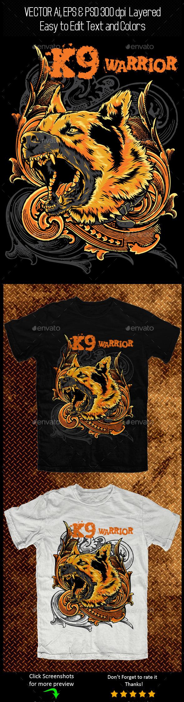 GraphicRiver K9 Warrior 11128802