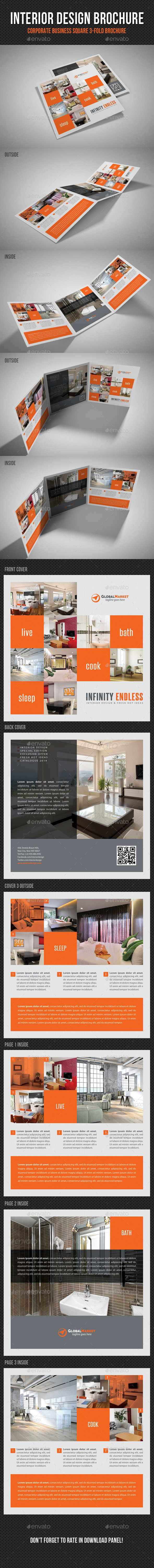 GraphicRiver Interior Design Square 3-Fold Brochure V01 11214984