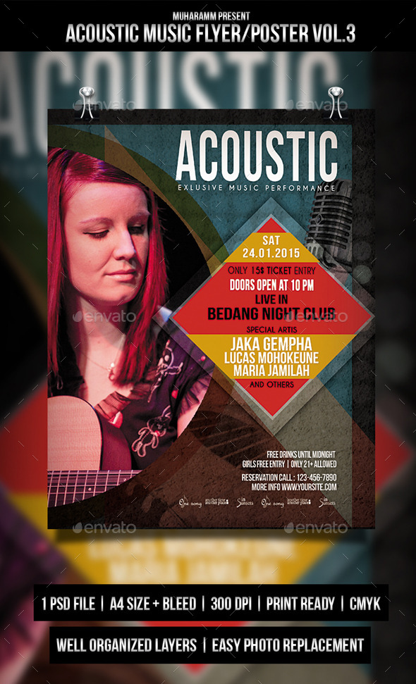 GraphicRiver Acoustic Music Flyer Poster Vol.3 11172606