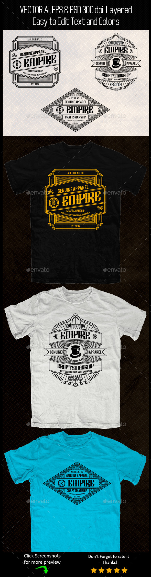 GraphicRiver Vintage T-shirt Template 11215108