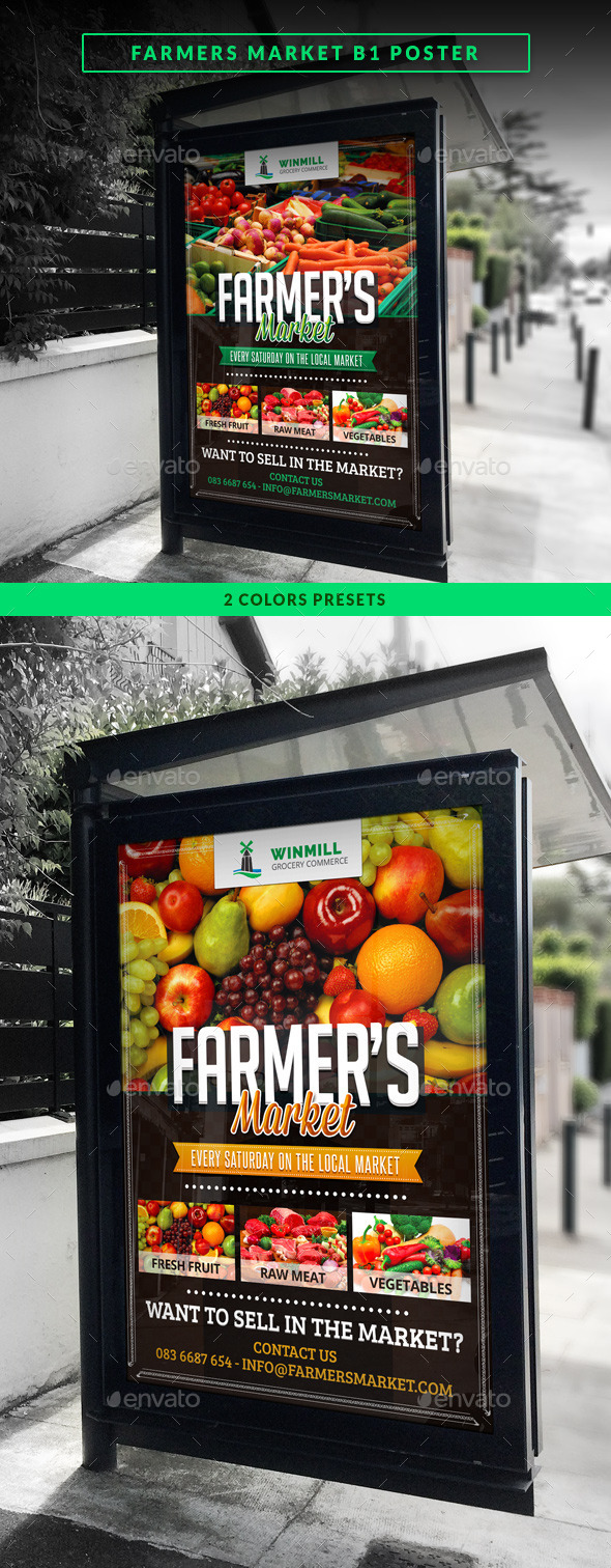 GraphicRiver Farmer s Market Commerce B1 Poster 11215174