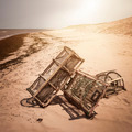 Lobster traps on beach - PhotoDune Item for Sale