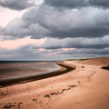 Beach view with storm clouds - PhotoDune Item for Sale