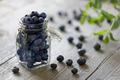 Blueberry in jar