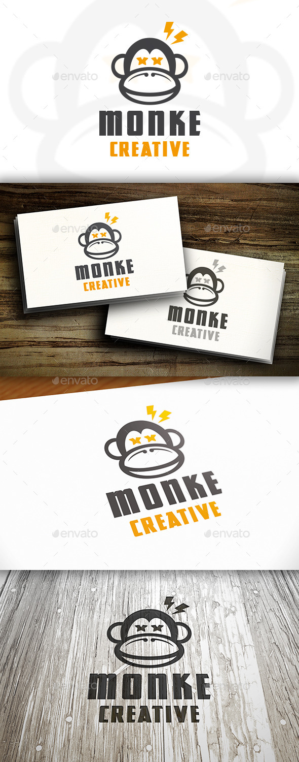 GraphicRiver Creative Monkey Logo 11215247