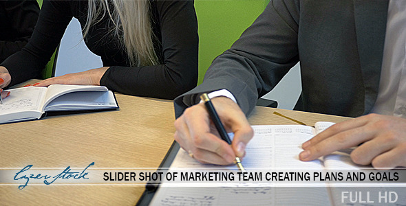 Marketing Team Creating Ideas and Solutions