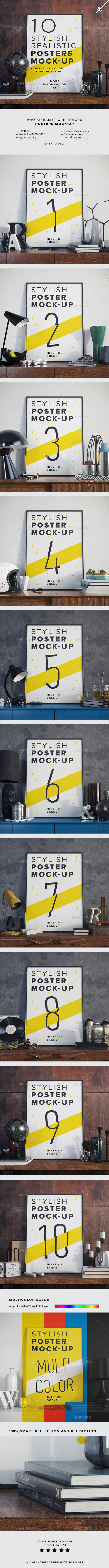 GraphicRiver Posters Mock-up 11107761