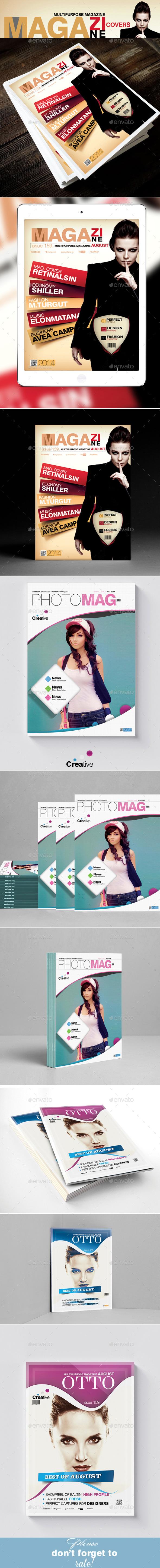 GraphicRiver Multipurpose Magazine Cover Templates Bundle 3in1 11215638