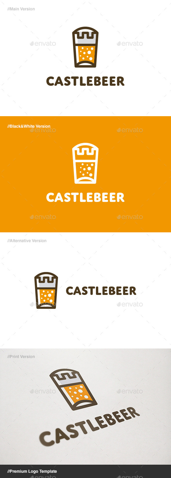 GraphicRiver Castle Beer Logo 11215781