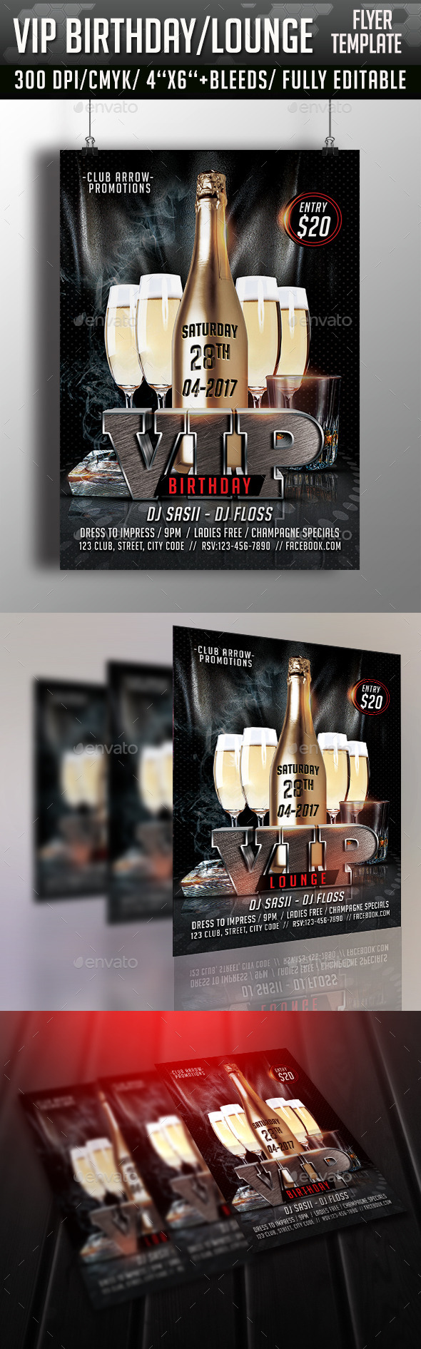 GraphicRiver VIP Birthday Lounge Flyer 11215792
