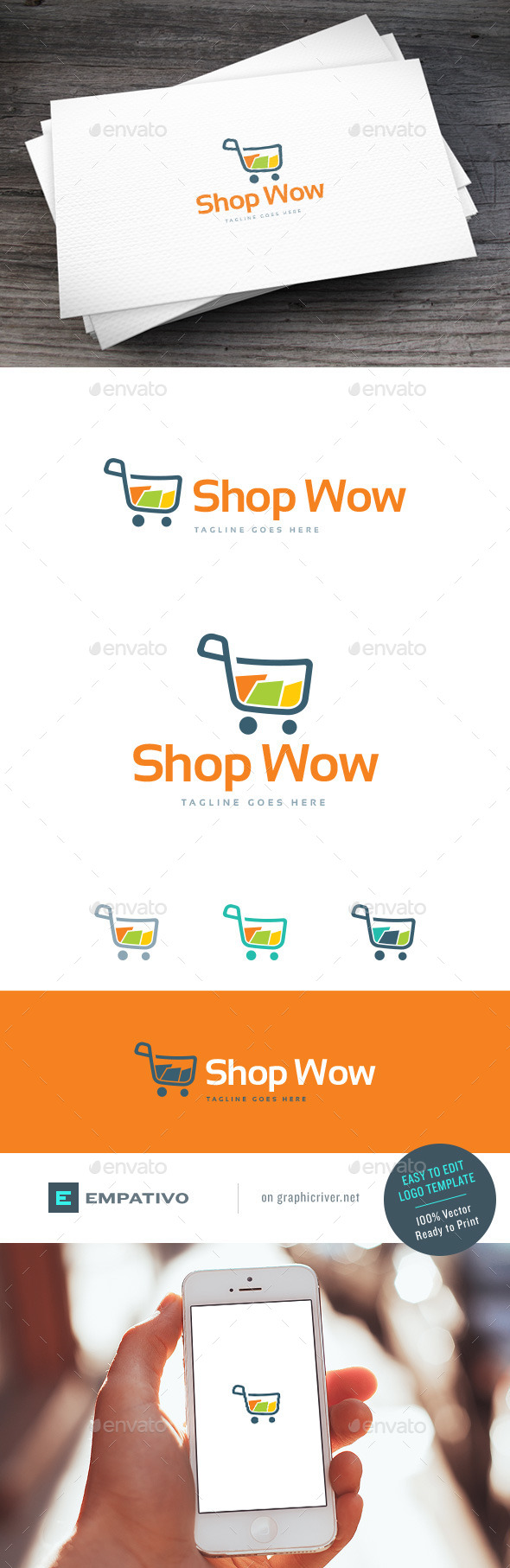 GraphicRiver Shop Wow Logo Template 11215930