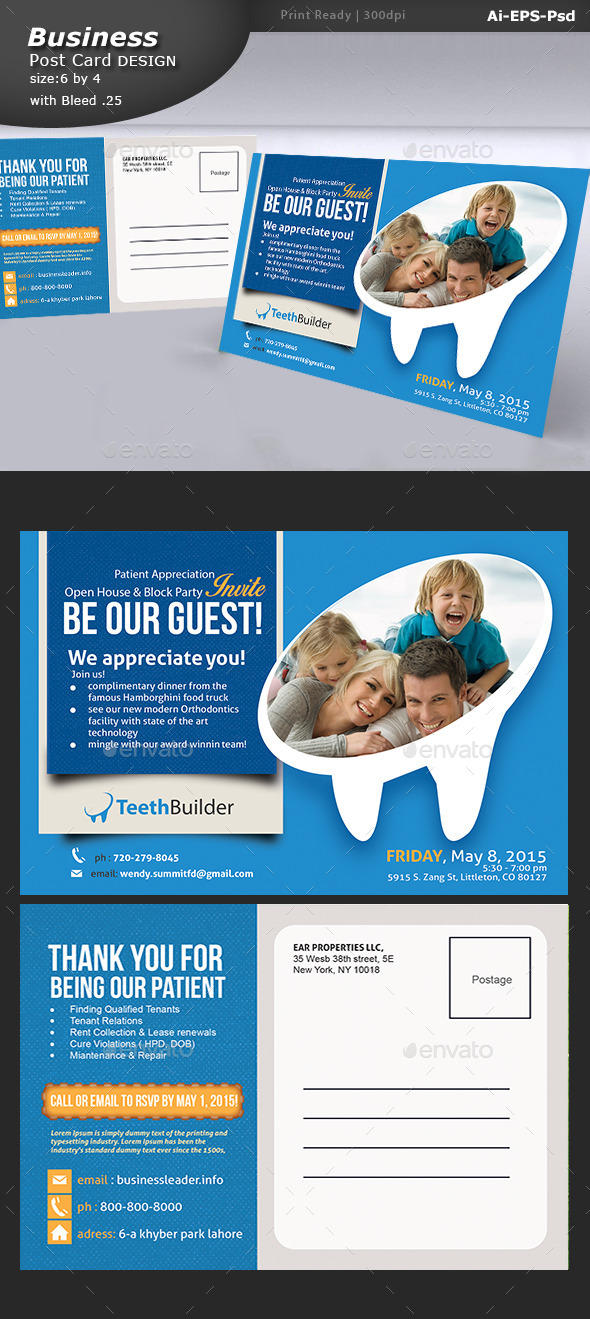 GraphicRiver Dentist Post card Design 11127129