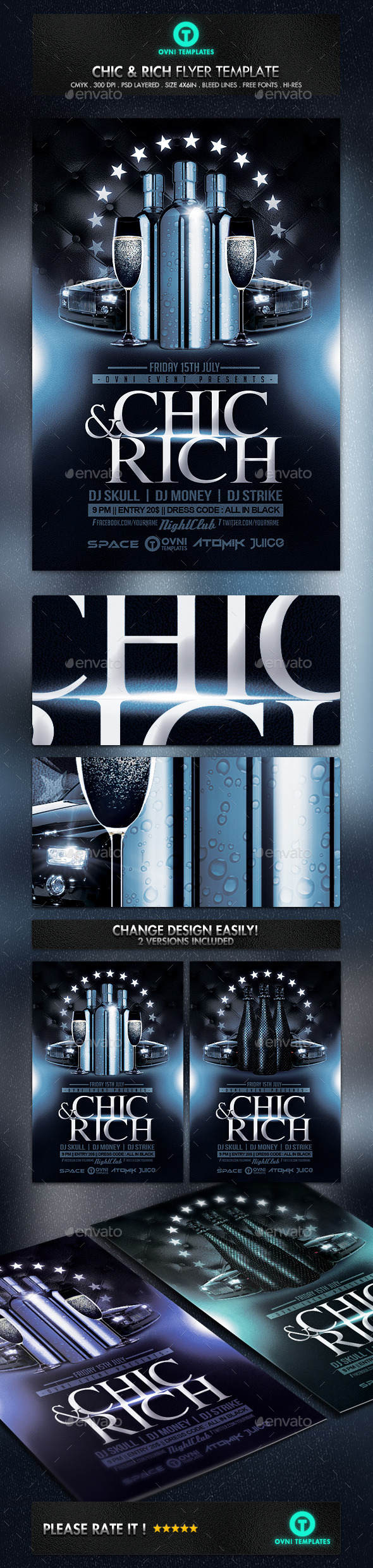 GraphicRiver Chic and Rich Flyer Template 11215964