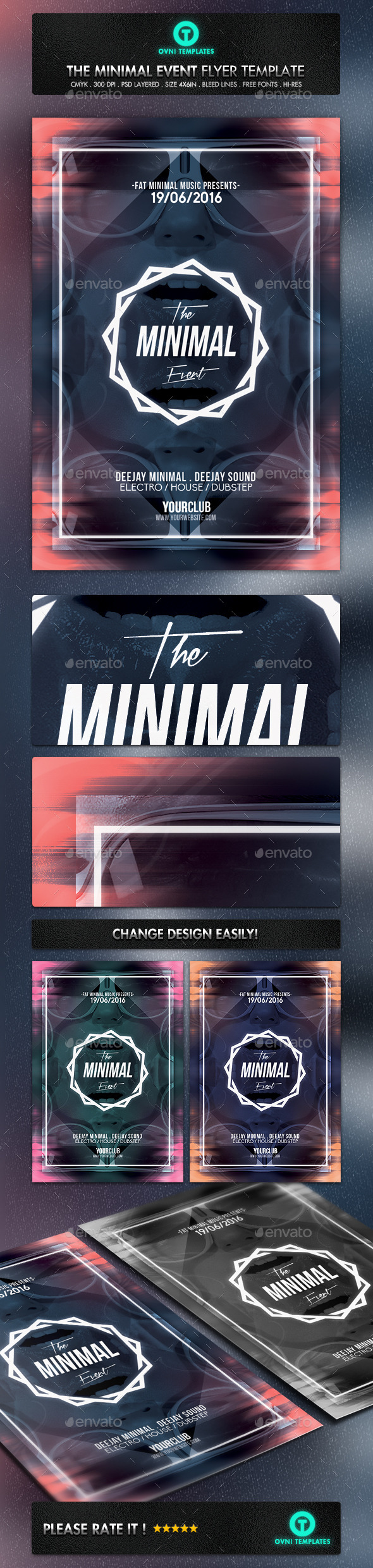 GraphicRiver Futuristic Minimal Flyer Template 11215972