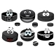 Cartoon Black Ice Hockey Pucks Characters - GraphicRiver Item for Sale