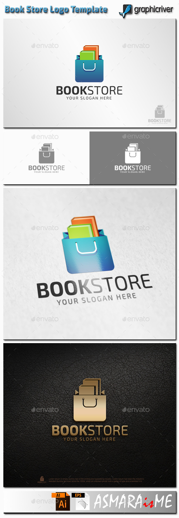 GraphicRiver Book Store Logo 11216157