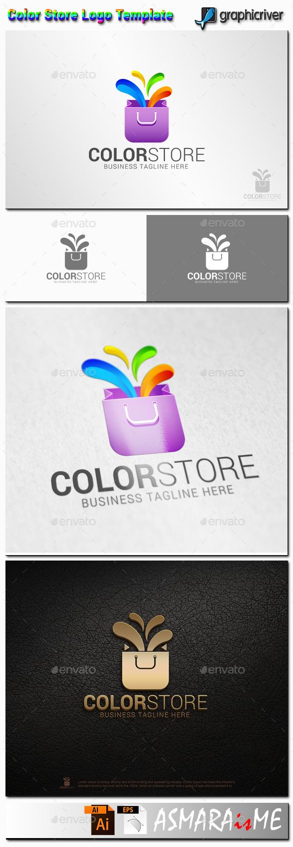 GraphicRiver Color Store Logo 11216159