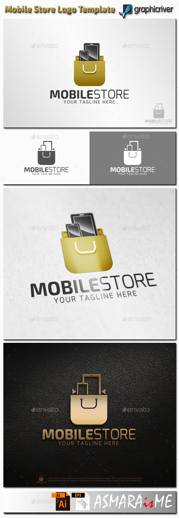 GraphicRiver Mobile Store Logo 11216162