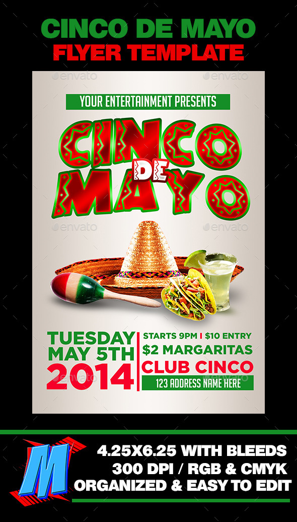 GraphicRiver Cinco De Mayo Flyer Template 11216382
