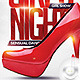 Flyer Full Girl's Night Party - GraphicRiver Item for Sale