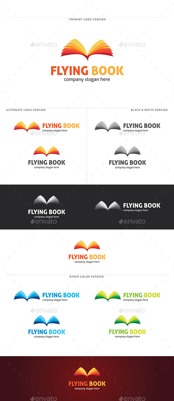 GraphicRiver Flying Book Logo 11216444