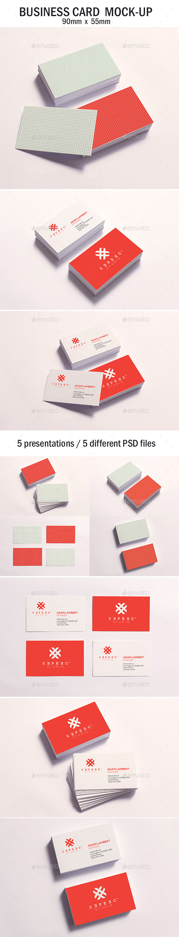 GraphicRiver Business Card Mock-up 11216447