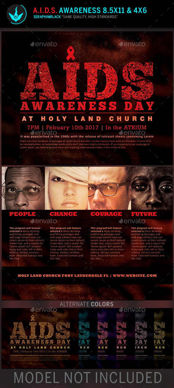 GraphicRiver AIDS Awareness Church Flyer Template 11216546