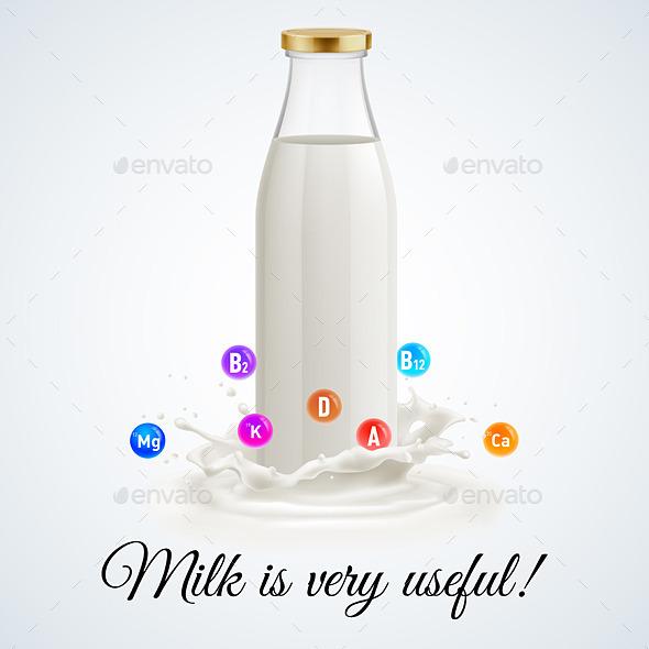 GraphicRiver Milk Bottle 11216545